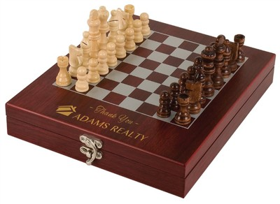 engraved chess set
