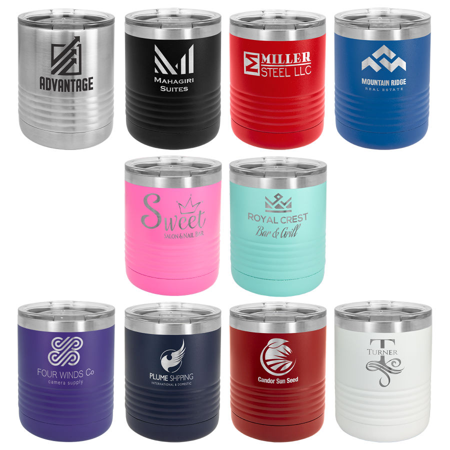 assorted tumblers for engraving