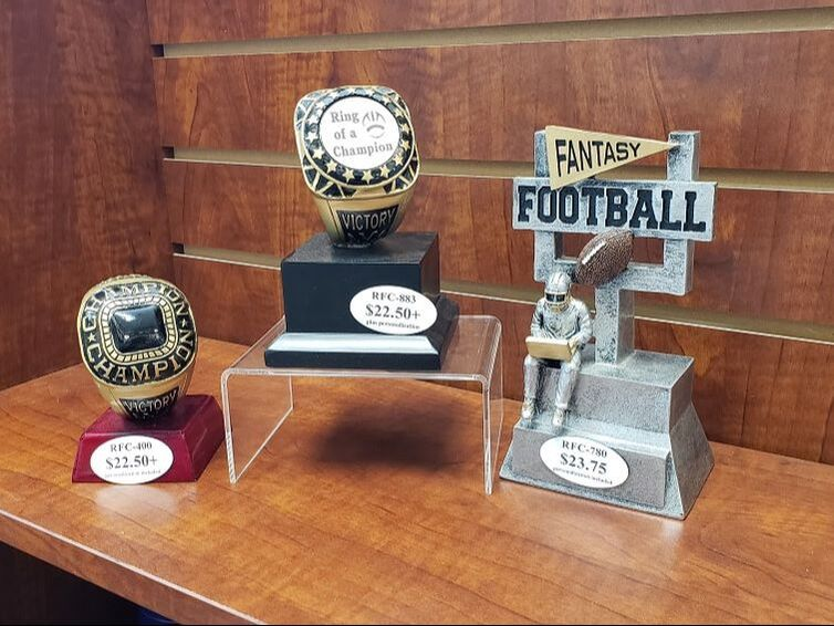 personalized fantasy football trophies