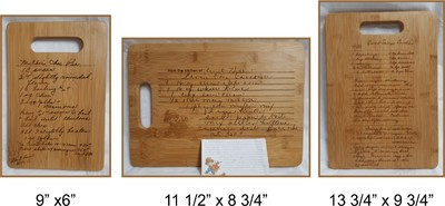 cutting board with recipe engraved